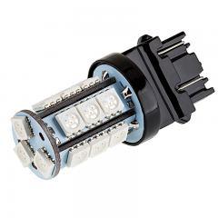 3157 LED Bulb - Dual Function 18 SMD LED Tower - Wedge Base - 3157 Red