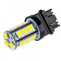 3157 LED Bulb - Dual Function 18 SMD LED Tower - Wedge Base - 3157 Amber