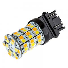 3157 Switchback LED Bulb - Dual Function 60 SMD LED Tower - A Type - Wedge Retrofit - Amber White