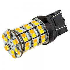 7443 Switchback LED RV Light Bulb - Dual Function 60 SMD LED Tower - A Type - Wedge Retrofit - Amber White
