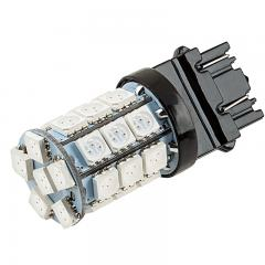 3156/3157 CK LED Bulb - Dual Function 27 SMD LED Tower - Wedge Base - Red