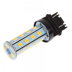 3157 LED Bulb - Dual Function 28 SMD LED Tower - Wedge Base - Amber