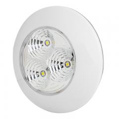 "3.25"" Round LED Dome Light Fixture - 30 Watt Equivalent"