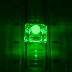 3mm Green High Flux LED - 525 nm - 70 Degree Viewing Angle