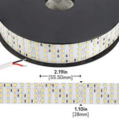 2835 White High-CRI LED Strip Light - Bright Quad Row LED Tape Light - 24V - IP20 - 1,317 lm/ft