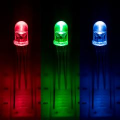 5mm Clear Tri-Color Through Hole LED - RGB T1 3/4 LED w/ 60 Degree Viewing Angle