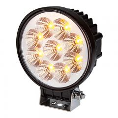 "Amber Off-Road LED Work Light/LED Driving Light - 5"" Round - 16W - 534 Lumens"