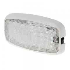 "6"" Rectangular Golf Cart Dome Light Fixture w/ Built-In Switch - 15 Watt Equivalent - 125 Lumens"