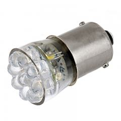 67 Boat and RV LED Light Bulb - (15) LED Forward Firing Cluster Bulb - BA15S Retrofit Base - 105 Lumens - Red
