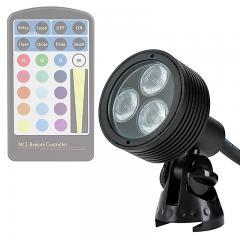 6W Color Changing RGB LED Landscape Spotlight - 200 Lumens - Remote Sold Separately