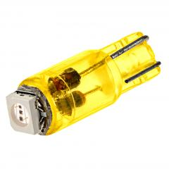 74 LED Boat and RV Light Bulb - 1 SMD LED - Miniature Wedge Retrofit - Amber