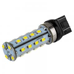 7443 LED Bulb - Dual Function 28 SMD LED Tower - Wedge Base - Amber