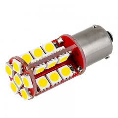 7507 (PY21W) CAN Bus LED Bulb - 30 SMD LED Tower - BAU15S Bulb - Cool White