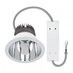 "Commercial LED Downlight Retrofit for 8"" Cans - Recessed Light with Reflector Trim - 280 Watt Equivalent - 2800 Lumens"