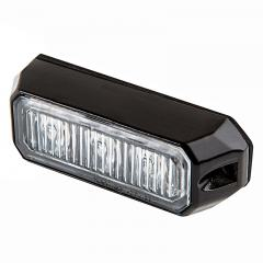 Vehicle LED Mini Strobe Light Head - Built-In Controller - 9 Watt - Surface Mount