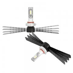 9005 LED Headlight Conversion Kit with Aluminum Finned Heat Sinks - 6,000 Lumens/Set