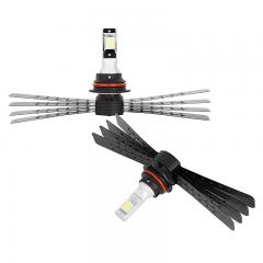 9007 LED Headlight/Fog Light Conversion Kit with Aluminum Finned Heat Sinks - 6,000 Lumens/Set