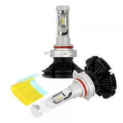 9012 LED Fanless Headlight/Fog Light Conversion Kit with Adjustable Color Temperature and Compact Heat Sinks - 5,000 Lumens/Set