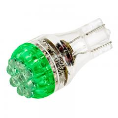 921 LED Bulb - 9 LED Forward Firing Cluster - Miniature Wedge Base