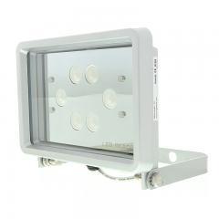 """LED Flood Light - 8"""" Rectangle With White Finish - 1,050 Lumens"""