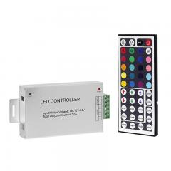 RGB LED Controller with Wireless IR Remote - Dynamic Color-Changing Modes - 3 Amps/Channel