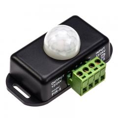 Mini PIR Motion Sensor Switch w/ Built In Timer - 12-24 VDC - 6 Amps