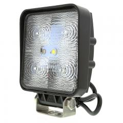 "LED Auxiliary Light - 4"" Square 15W Heavy Duty Off Road Driving Light"