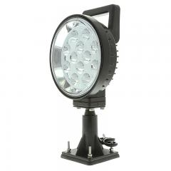 "Off-Road LED Work Light - 6"" Round Adjustable Spot Light w/ Handle and Integrated Switch - 15W - 1,350 Lumens"