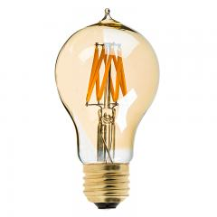 8W A19 Filament LED Light Bulb - Gold Tint Victorian Style Filament Bulb - Dimmable - 40W Equivalent - 470 Lumens