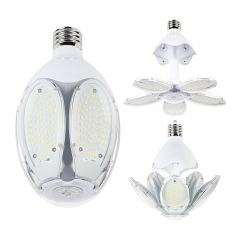 60W Adjustable LED Corn Bulb - (5) Adjustable LED Modules - 200W Equivalent - Mogul Base - 8400 Lumens