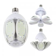 90W Adjustable LED Corn Bulb - (5) Adjustable LED Modules - 320W Equivalent - Mogul Base - 12600 Lumens