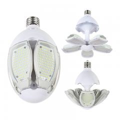 90W Adjustable LED Corn Bulb with Microwave Motion Sensor - (5) Adjustable LED Modules - 200W Equivalent - Mogul Base - 8400 Lumens