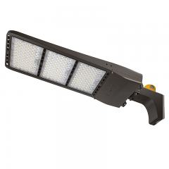 400W LED Parking Lot/Shoebox Area Light w/ Optional Photocell - 200-480V - 56,000 Lumens - 1,500W Metal Halide Equivalent - 5000K - Square/Round Fixed Arm Mount