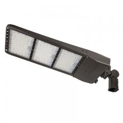 400W LED Parking Lot/Shoebox Area Light - 200-480V - 56,000 Lumens - 1,500W Metal Halide Equivalent - 5000K - Knuckle Slipfitter Mount