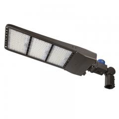 500W LED Parking Lot/Shoebox Area Light w/ Photocell - 200-480V - 70,000 Lumens - 2,000W Metal Halide Equivalent - 5000K - Knuckle Slipfitter Mount