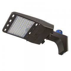 150W LED Parking Lot Light - LED Shoebox Area Light with Optional Photocell - Fixed Arm Mount - 400W Equivalent - 21000 Lumens