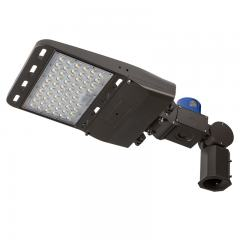 100W LED Parking Lot/Shoebox Area Light w/ Photocell - 14,000 Lumens - 250W Metal Halide Equivalent - 5000K - Knuckle Slipfitter Mount