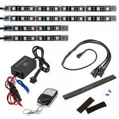 ATV & UTV LED Lighting Kit - Multi-Strip Remote Activated RGB Color Changing Kit