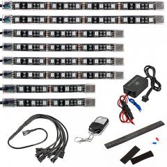 Multi-Color LED Lighting Kit - Weatherproof Multi-Strip Remote Activated RGB Color Changing Kit