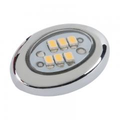 Miniature Oval LED Accent Light - Chrome - 20 Lumens