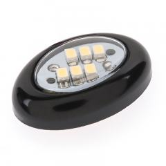 Miniature Oval LED Accent Light - Black - 15 Lumens