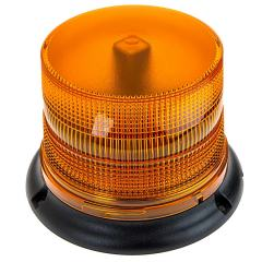 "SAE Class 1 LED Strobe Beacon - 4-3/4"" Amber LED Multi Mode Strobe Light Beacon"