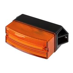 "4-1/2"" Amber LED Strobe Light Beacon - Rectangular Surface Mount - Triple Flash Pattern"