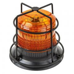 "4-3/4"" Amber LED Strobe Light Caged Beacon"