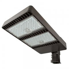 LED Parking Lot Light - 400W (2,000W HID Equivalent) 200-480V Dimmable LED Shoebox Area Light - 5000K - 60,000 Lumens