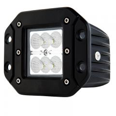 "Flush Mount LED Light Pod - 3"" Square Work Light - 18W - 1,440 Lumens"