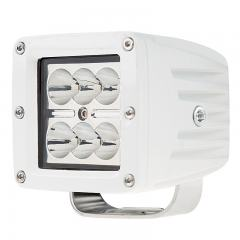 "LED Boat Light - 3"" Square Spot or Spreader Light - 18W - 1,440 Lumens"