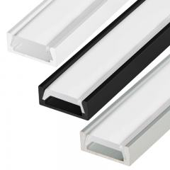 Low Profile Aluminum LED Strip Channel - Surface Mount LED Extrusion - KLUS MICRO-ALU Series