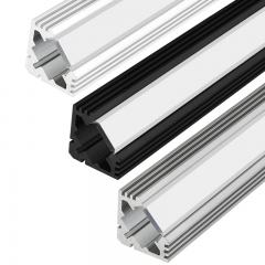 Corner Aluminum LED Strip Channel - Surface Mount LED Extrusion - KLUS 45-ALU Series