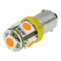 BA9s LED Boat and RV Light Bulb - 5 SMD LED Tower - BA9s Retrofit - 96 Lumens
